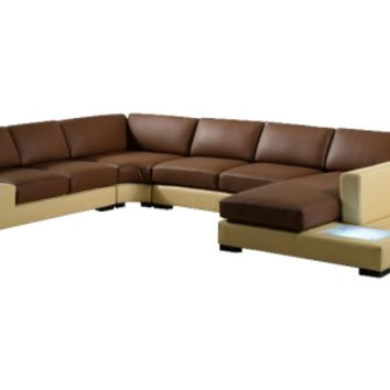 Scene Two Tone Leather Sectional by Scene Furniture - Opulentitems.com