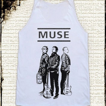 Size L -- MUSE BAND Shirts Muse Shirts Alternative Rock Shirts Women Shirts Vest Women Tank Top Women Tunics Sleeveless Singlet Shirts