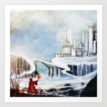 The North Art Print by Moonlit Emporium