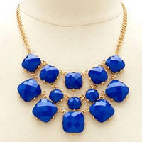 Square Stone Statement Necklace: Charlotte Russe