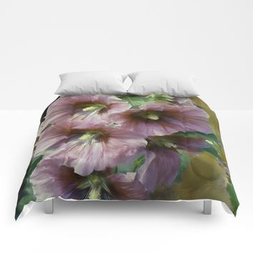 What A Holly Day Comforters by Theresa Campbell D'August Art