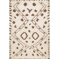 Rugsville Moroccan Beni Ourain Ivory Wool Rug 13759, Rugsville