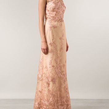 Marchesa Notte Floral Embroidered Strapless Gown - Marissa Collections - Farfetch.com