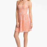Fire Lace Skater Dress (Juniors) (Online Exclusive) | Nordstrom