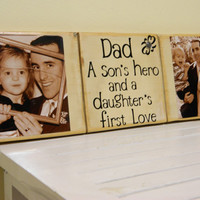 Personalized Fathers day gift Dad a sons hero and by FayesAttic11