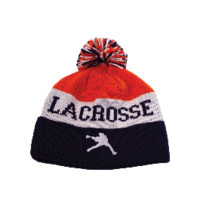 Lacrosse Unlimited Knit Winter Hat in Orange and Navy | Lacrosse Unlimited
