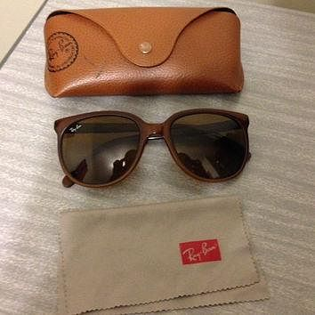 Vintage RAY BAN CATS Bausch & Lomb Brown Frame France Nylon Sunglasses Rare!