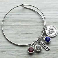 Army Mom Bangle