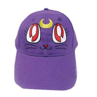 Cosplay Sailor Moon Luna baseball cap for girls embroidered design | Buy cool cap,winter hat, straw hats, fashion hats on buyhathats.com