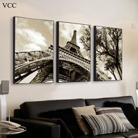 Eiffel Tower Painting Decorative Picture,Wall Art Canvas Painting Posters And Prints,Wall Pictures For Living Room,Wall Decor