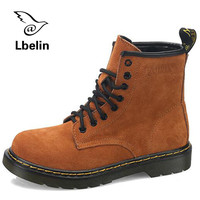 Short Boots Autumn Genuine Leather Suede Ankle Boots Men Women Dr Martin Boots High Top Casual Shoes Brand Motorcycle Botas Doc