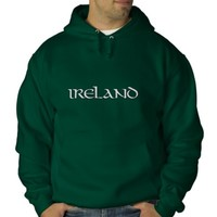 Ireland Embroidered Hoodie from Zazzle.com
