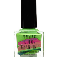 Bright Green Color Changing Nail Polish