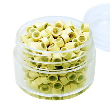 500pcs Silicone Lined Micro Rin Aluminum Extension Hair Ringgs Links Beads For Tip Hair Extension Tools 5035