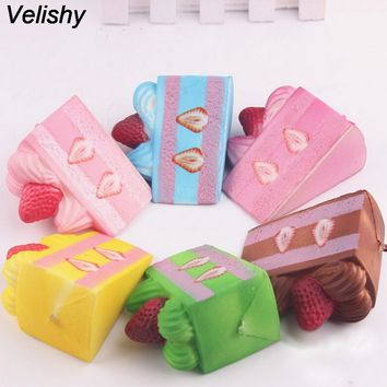 Velishy 1PCS Cute Sweet Cake Cabochon Pendant Fake Simulation Food Artificial For Bag Parts Accessories Random Color