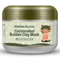 2017 Deep Pore Cleansing Clay Mask Carbonated Bubble Anti-Acne Moisturizing Face Mask