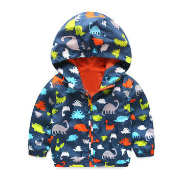 Dinosaur Windbreaker Jacket - 3 Colors
