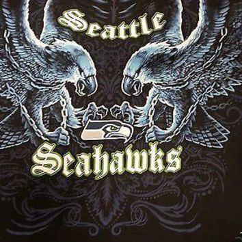 SEATTLE SEAHAWKS New with tags FACE - OFF  T-Shirt BLACK shirt NFL