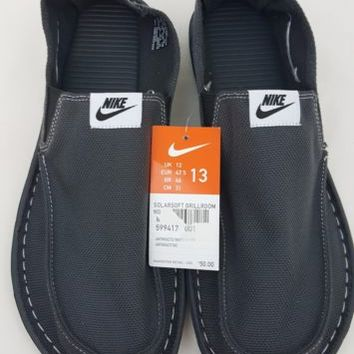 Nike Solarsoft Grillroom Shoes Men Size 13 Anthracite Charcoal Gray 599417 001