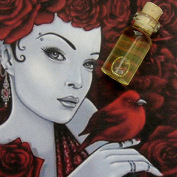 WINTER ROMANCE Ritual Oil, Elixir, Anointing Oil, Love Oil,  Yule-Winter Celebration Oil, Love & Passion Oil~ Wicca Witchcraft Pagan