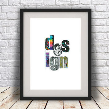 INSTANT DOWNLOAD, Design, Typography, Abstract art, ink, Watercolour, Paint mix media, minimal modern, abstract digital poster print.