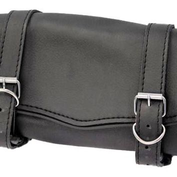 Tool bag black leather Water resistant metal buckle