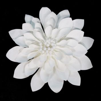 Dahlia Large Paper Flower, White, 12-Inch