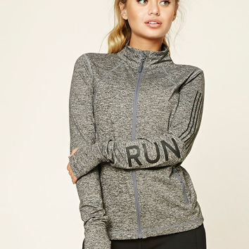 Active Marled Knit Run Jacket