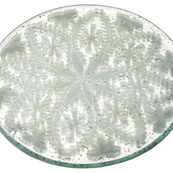"""6"""" Etched Mirror Tray, Decorative Trays"""
