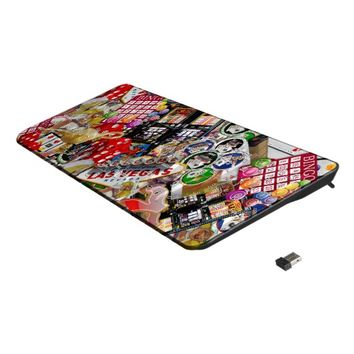 Gamblers Delight - Las Vegas Icons Collage Wireless Keyboard