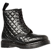 The Coralie Quilted 8-Eye Boot in Black