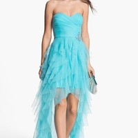 Hailey Logan Bandage Back High/Low Tulle Gown (Juniors)   Nordstrom