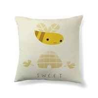Sweet' bee Throw Pillow