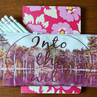 "Pencil Case/ Clutch - Back to School Special - ""Into The Wild"""