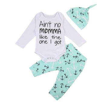Ain't No Momma Like The One I Got Anchor  Infant Baby Onesuit Bodysuit