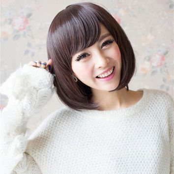 Futuretrend 1PC+ Short Bob Wig Young New Hair Style Bob Wigs Dark Brown Short Wigs For Black Women Cheapest Fashion Wigs