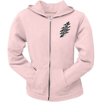 Grateful Dead - Black & White Calaveras Light Pink Juniors Zip Hoodie