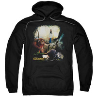 LABYRINTH/SARAH & LUDO-ADULT PULL-OVER HOODIE-BLACK