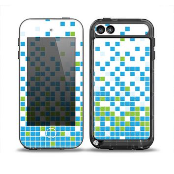 The Green and Blue Mosaic Pattern Skin for the iPod Touch 5th Generation frē LifeProof Case