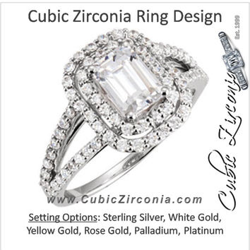Cubic Zirconia Engagement Ring- The Ramona
