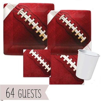End Zone - Football - Birthday Party 64 Big Dot Bundle