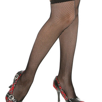 Medium Black Fishnet Thigh Highs