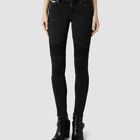 Womens Biker/Washed Black (Washed Black) | ALLSAINTS.com