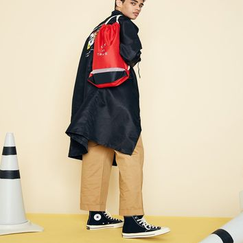 [LUV IS TRUE] (UNISEX)SD GYM BAG (RED)