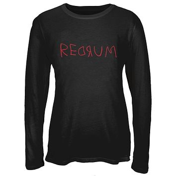 Halloween Horror Redrum Juniors Long Sleeve T-Shirt
