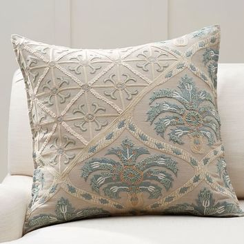 Zerrin Suzani Embroidered Pillow Cover