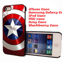 Captian America Shield for iPhone 4/4S/5/5S/5C Case, Samsung galaxy S3/S4Case
