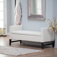 Belham Living Camille Upholstered Backless Storage Bench - Neutral Chevron | www.hayneedle.com