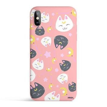 Sailor Kitty - Colored Candy Matte TPU iPhone Case Cover