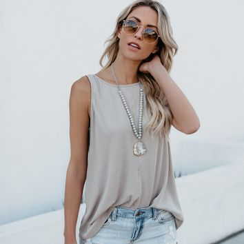 One More Day Tank - Taupe
